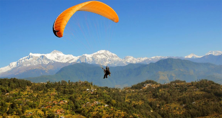 mountain view from paragliding
