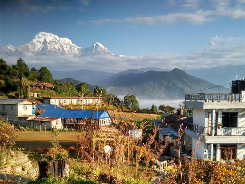 Annapurna south view from Australian Camp